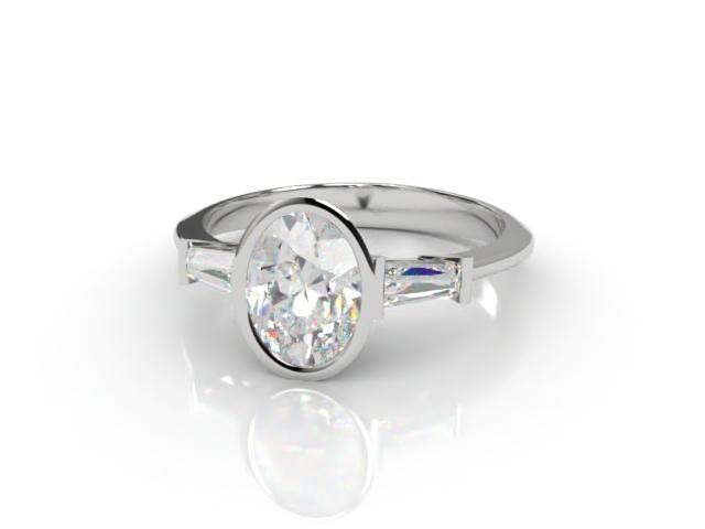 Certificated Oval Diamond in Platinum