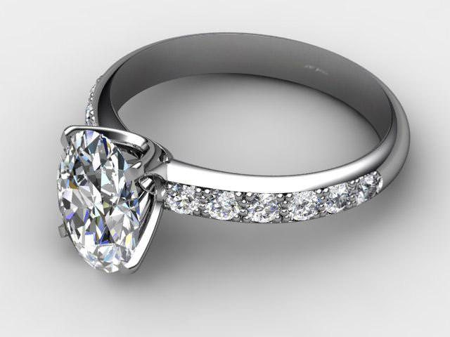 Certificated Oval Diamond in Platinum