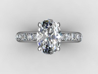 Certificated Oval Diamond in Platinum - 9