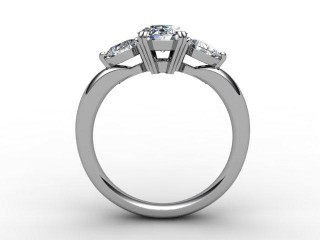 Trilogy Platinum Oval & Pearshape Diamond - 6