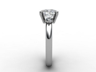 Trilogy Platinum Oval & Pearshape Diamond - 9