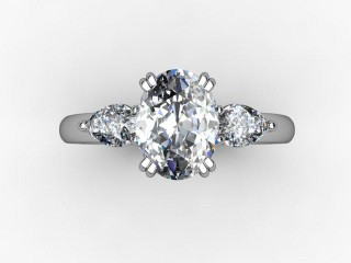 Trilogy Platinum Oval & Pearshape Diamond - 12