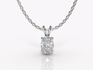 Certified Oval Diamond Pendant