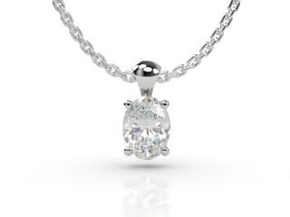 Certified Oval Diamond Pendant -03-01912