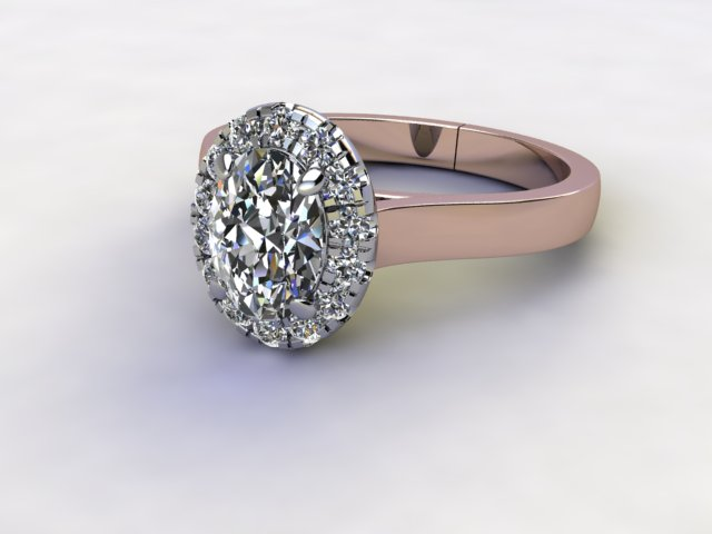 Certificated Oval Diamond in 18ct. Rose Gold - Main Picture