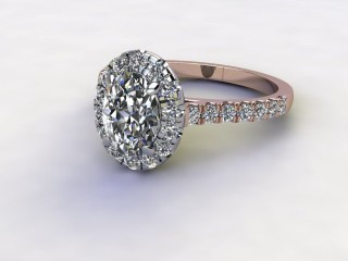 Certificated Oval Diamond in 18ct. Rose Gold-03-0400-8919