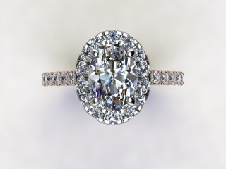 Certificated Oval Diamond in 18ct. Rose Gold - 9