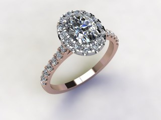 Certificated Oval Diamond in 18ct. Rose Gold - 12
