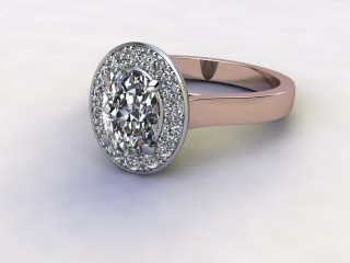 Certificated Oval Diamond in 18ct. Rose Gold-03-0400-8920