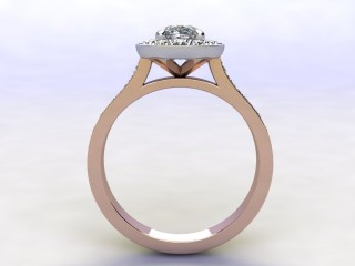 Certificated Oval Diamond in 18ct. Rose Gold - 3