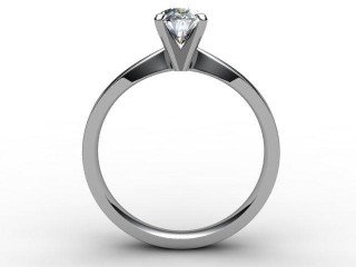 Certificated Oval Diamond Solitaire Engagement Ring in 18ct. White Gold - 6