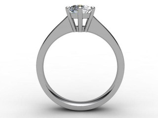Certificated Oval Diamond Solitaire Engagement Ring in 18ct. White Gold - 3