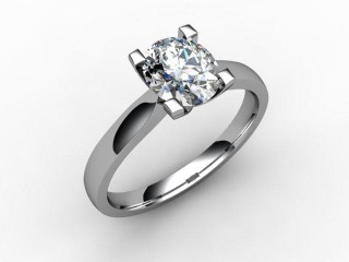 Certificated Oval Diamond Solitaire Engagement Ring in 18ct. White Gold