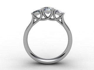 Trilogy 18ct. White Gold Oval-Cut Diamond - 6
