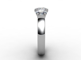 Trilogy 18ct. White Gold Oval-Cut Diamond - 9