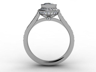 Certificated Oval Diamond in 18ct. White Gold - 3