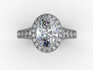 Certificated Oval Diamond in 18ct. White Gold - 9