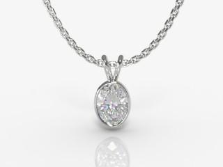 Certified Oval Diamond Pendant-03-05913