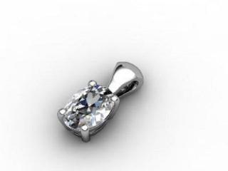 Certified Oval Diamond Pendant - 3