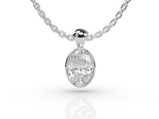 Certified Oval Diamond Pendant-03-05914