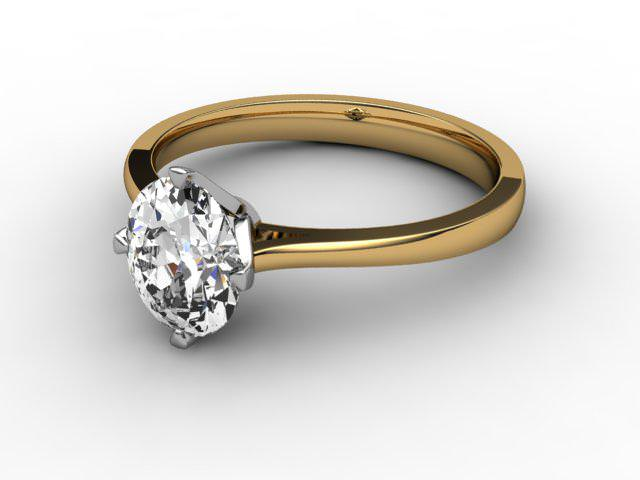 Certificated Oval Diamond Solitaire Engagement Ring in 18ct. Gold