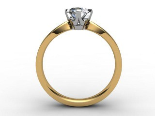 Certificated Oval Diamond Solitaire Engagement Ring in 18ct. Gold - 6
