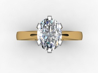 Certificated Oval Diamond Solitaire Engagement Ring in 18ct. Gold - 12