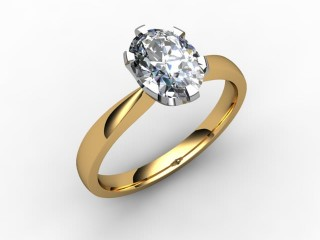 Certificated Oval Diamond Solitaire Engagement Ring in 18ct. Gold - 15