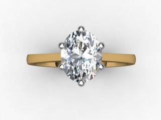 Certificated Oval Diamond Solitaire Engagement Ring in 18ct. Gold - 9