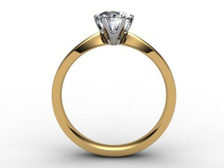 Certificated Oval Diamond Solitaire Engagement Ring in 18ct. Gold - 3