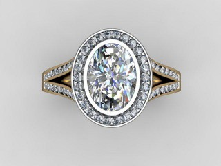 Certificated Oval Diamond in 18ct. Gold - 9