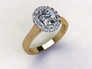 Certificated Oval Diamond in 18ct. Gold - 12