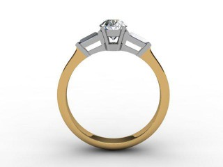 Certificated Oval Diamond in 18ct. Gold - 3