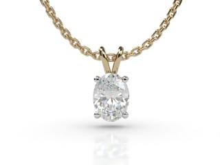 Certified Oval Diamond Pendant-03-28911