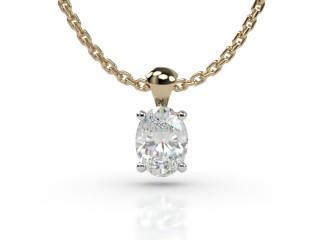 Certified Oval Diamond Pendant-03-28912