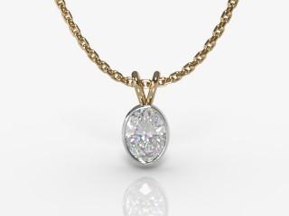 Certified Oval Diamond Pendant-03-28913