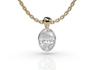 Certified Oval Diamond Pendant-03-28914