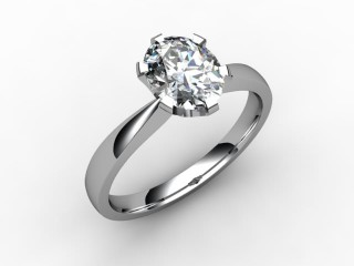 Certificated Oval Diamond Solitaire Engagement Ring in Palladium - 15