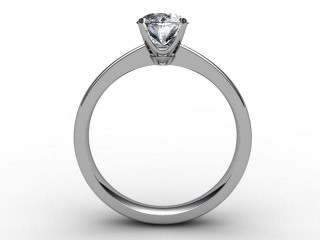 Certificated Oval Diamond Solitaire Engagement Ring in Palladium - 6