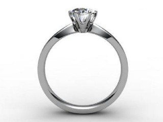 Certificated Oval Diamond Solitaire Engagement Ring in Palladium - 3