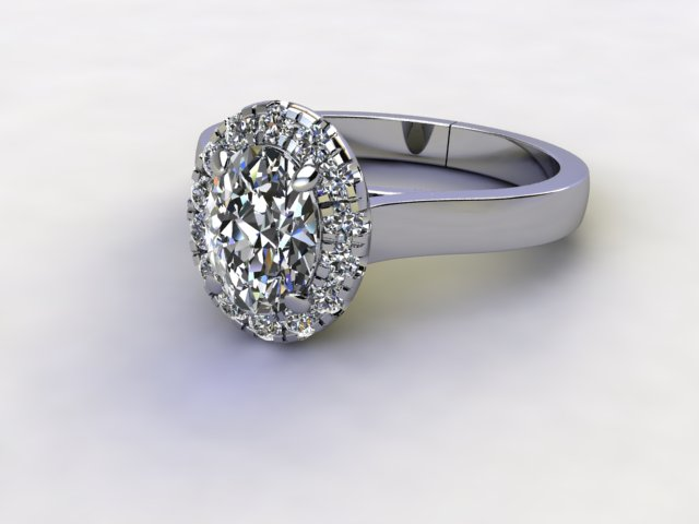 Certificated Oval Diamond in Palladium