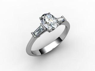 Certificated Oval Diamond in Palladium-03-6602-0009