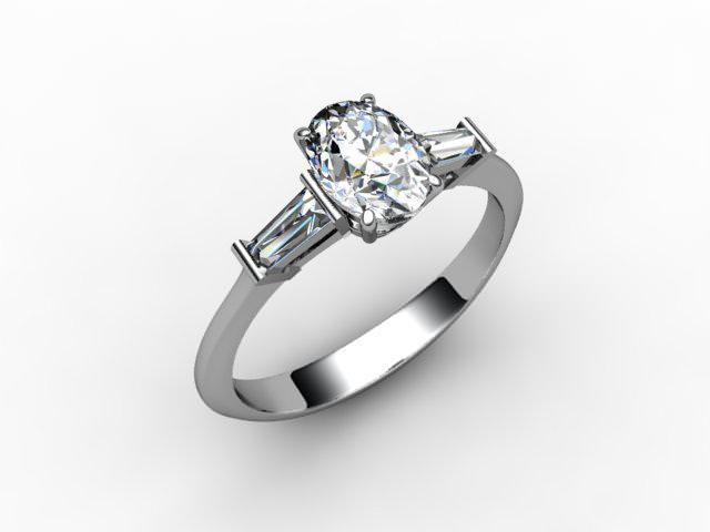Certificated Oval Diamond in Palladium