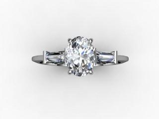 Certificated Oval Diamond in Palladium - 9