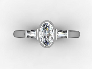 Certificated Oval Diamond in Palladium - 9