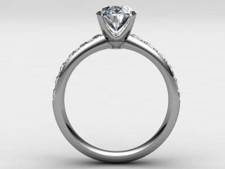 Certificated Oval Diamond in Palladium - 3