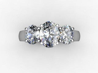 Trilogy Palladium Oval-Cut Diamond - 12