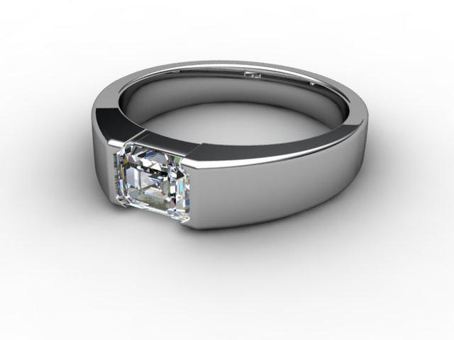 Certificated Emerald-Cut Diamond Solitaire Engagement Ring in Platinum