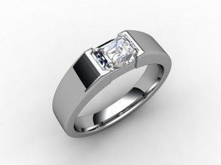 Certificated Emerald-Cut Diamond Solitaire Engagement Ring in Platinum - 12