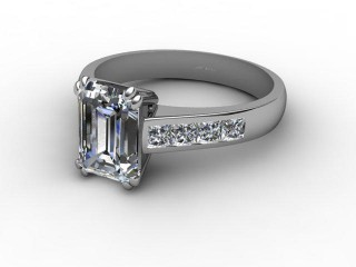 Certificated Emerald-Cut Diamond in Platinum-04-0100-2950